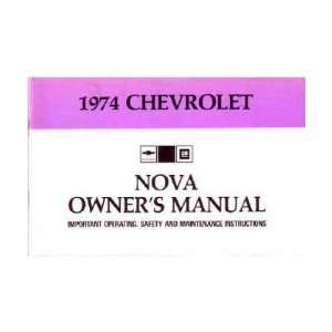 1974 CHEVROLET NOVA Owners Manual User Guide Automotive