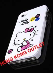 Hello Kitty Case Cover Skin for iPhone 4 4G White D47b