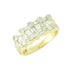 Yellow Gold Mens Diamond Ring Jewelry