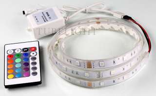 1M Waterproof 30 SMD 5050 RGB LED Strip light+ 24key IR Remote Control