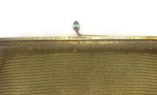 Antique 14K Yellow Gold Purse Pocket Book Flapper Mesh Weave 1920s