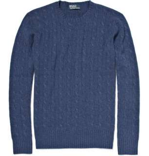 Clothing  Knitwear  Crew necks  Cashmere Cable Knit