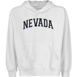 Nevada Wolf Pack Youth White Arch Applique Pullover Hoody Sports