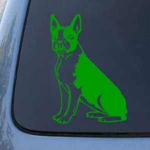 Dog   Vinyl Car Decal Sticker #1495  Vinyl Color Green Automotive