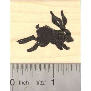 Rabbit Silhouette Rubber Stamp, Black Rabbit Arts, Crafts & Sewing