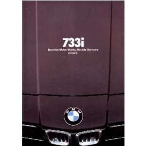 1978 BMW 733 I Sales Brochure Literature Book Piece