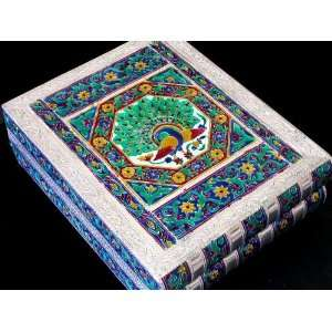 Peacock Meena Inlay Bracelet Bangle Dresser Jewelry Box