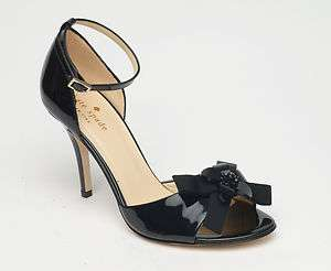 NEW Kate Spade 'Silvy' black patent leather dress heels $325