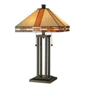 Lighting Tiffany Mission Collection 24.5 in Antique Bronze Table Lamp