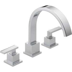 Delta Vero 2 Handle Roman Tub Trim Kit Only in Chrome T2753 at The