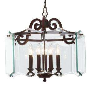 Hampton Bay Beverly Collection 8 Light Hanging Oil Rubbed Bronze