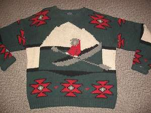 vtg Retro Mens Woolrich 100% Wool Knit Sweater Holiday XMAS Mens Size