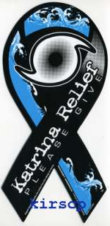 Hurricane Katrina Relief Awareness Ribbon Car Magnet