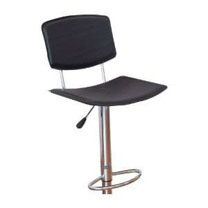 Adjustable Single L Back Air Lift Swivel Bar Stool