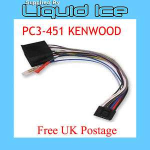 PC3 451 Kenwood 16 Pin to ISO Headunit Power Lead Radio