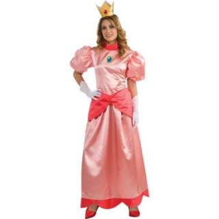 Super Mario Bros.   Deluxe Princess Peach Adult Costume, 69259