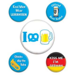 Halloween Costumes Oktoberfest   Party Buttons (5 count)