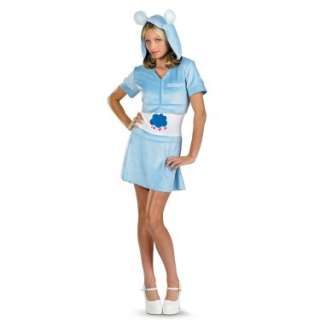 Halloween Costumes Care Bears   Grumpy Bear Hoodie Dress Adult Costume
