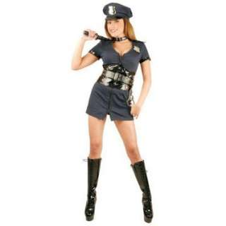 Halloween Costumes Double Zip Officer Naughty Adult Costume