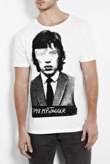 Raw Power  White Jagger Mug Shot T Shirt by Raw Power
