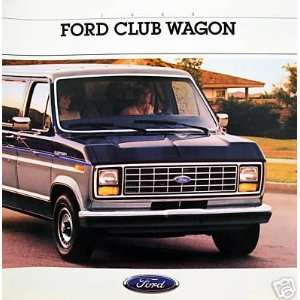 1988 Ford Club Wagon vehicle brochure