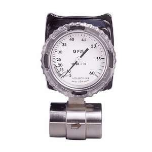 60GPMDirect Read Flowmeter 316ss Right Flow Direct Reading Flow Meter