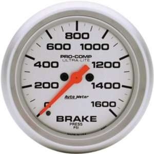 Auto Meter 4467 Ultra Lite 2 5/8 0 1600 PSI Full Sweep Electric Brake