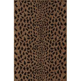Modern Animal Print leopard spots cheetah Area Rug Gold