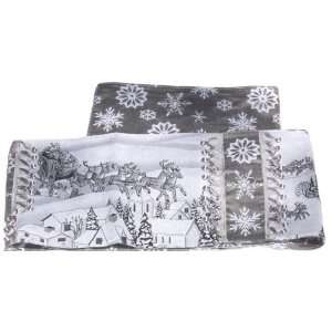 Black & White Santa Claus Christmas Reversible Table