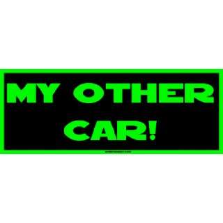 My other car Large Bumper Sticker Automotive
