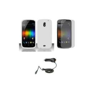 (Verizon) Premium Combo Pack   White Silicone Soft Skin Case Cover