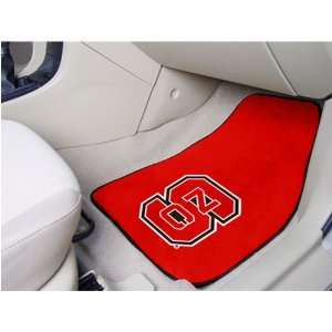North Carolina State Wolfpack NCAA Car Floor Mats (2 Front
