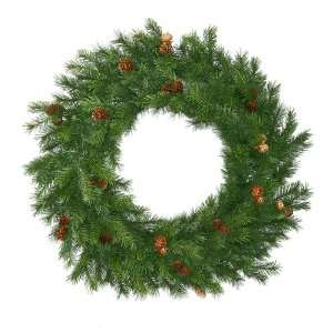 Pine With Cones Artificial Christmas Wreath   Unlit