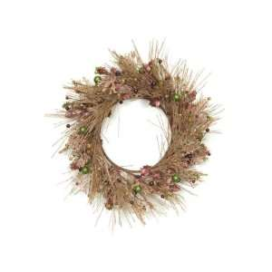 Pack of 2 Artificial Glittered Holly/Berry/Pine Christmas Wreaths