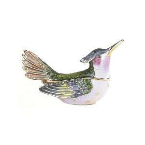 HUMMING BIRD Trinket Box with Swarovski Crystals