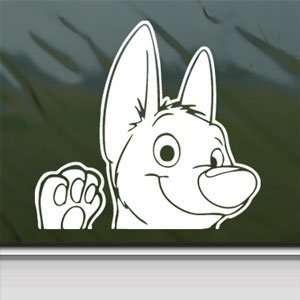 BOLT DOG White Sticker DISNEY Car Laptop Vinyl Window