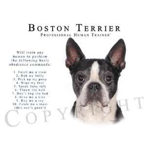 Terrier Human Trainer Mouse Pad Dog Mousepad