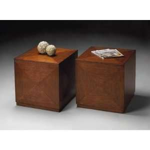 Bunching Cube End Table in Chestnut Burl 2425108 Furniture & Decor