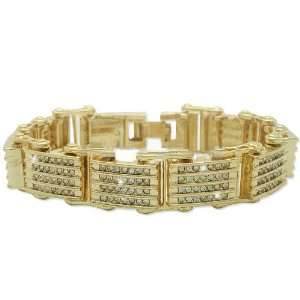 Iced Lil Wayne Hip Hop Bracelet Gold Plated