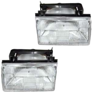 Tempo Mercury Topaz Headlights Headlamps Head Lights Lamps Pair Set
