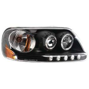 Ford F150 Headlight Assembly (Projector, Black Bezel, with