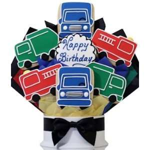 Happy Birthday Trucks Bouquet Patio, Lawn & Garden