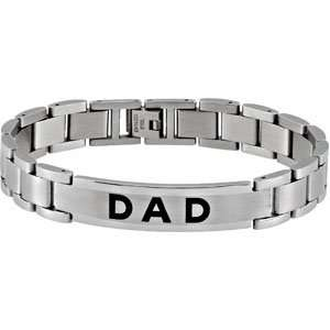 Mens Stainless Steel DAD Bracelet Jewelry