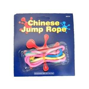 NEON colors multi colored CHINESE JUMP ROPE elastic Jumprope Kids Toy