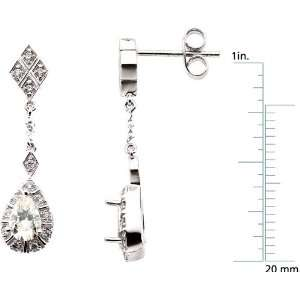white gold Moissanite & Diamond Earrings Diamond Designs Jewelry