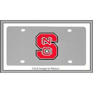 com NCAA North Carolina State Wolfpack Stainless Steel License Plate