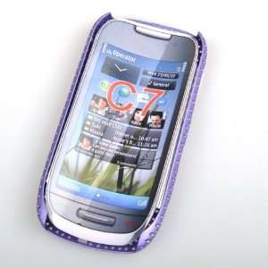 ® PURPLE MESH NET CASE COVER FOR Nokia C7 Cell Phones & Accessories
