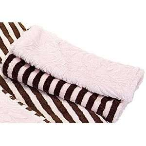 Microfiber Baby Burp Cloth   Brown & Pink Stripe With Paisley Baby