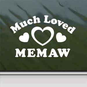 Much Loved Memaw White Sticker Car Vinyl Window Laptop