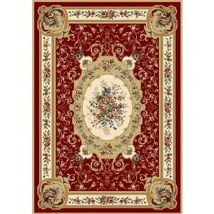 Home Dynamix Royalty Machine woven Red Oriental Rug   8078